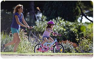 barre d'apprentissage du vélo