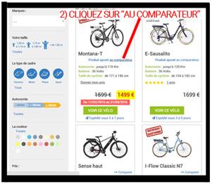 Comparer des vélos électriques