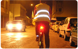 Gilet rétro-réfléchissant pour vélo français