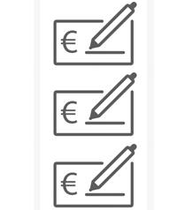 Règlement en 3 x par chèque