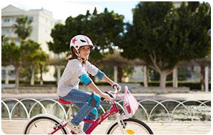 protections genoux et coudes à vélo