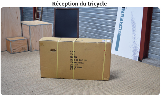 Réception du tricycle pour adulte
