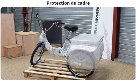 Tricycle adulte protection du cadre
