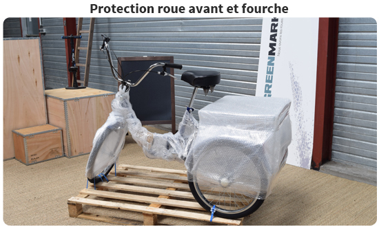 Protection roue avant et fourche du tricycle adulte