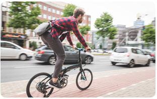 Développement vélo pliant