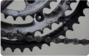 Entretien de la chaîne d'un vélo français