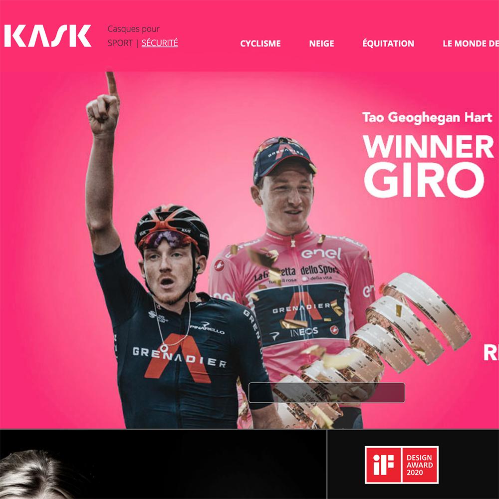 La marque Kask gagne le Giro